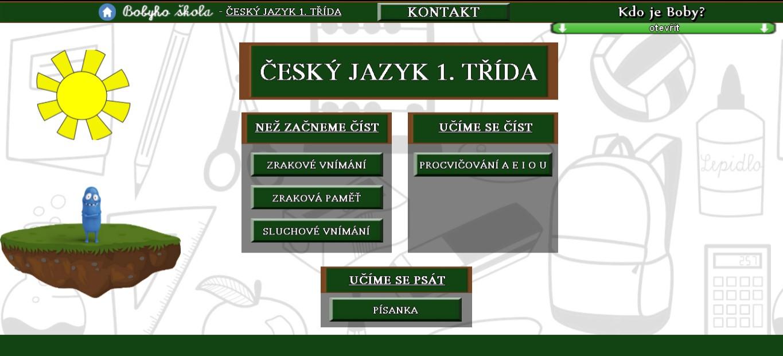 Český jazyk 1. třída